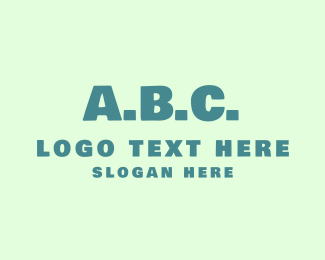 English - ABC Alphabet logo design