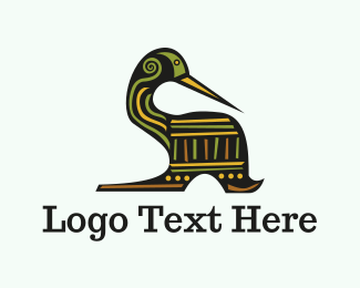 Texture - Tribal Duck logo design
