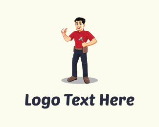 Cartoon - Handyman Cartoon logo design