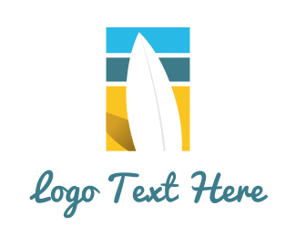 Surfboard - Surf Beach logo design