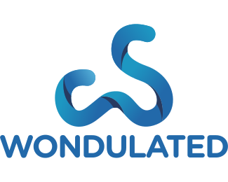 Apparel - Curvy Blue Ribbon  logo design