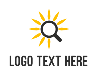 Magnifying Glass - Sunflower Research logo design