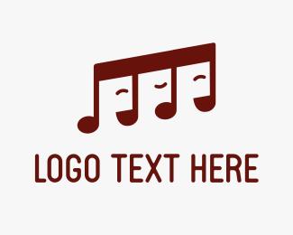Mp3 - The Singer Notes logo design