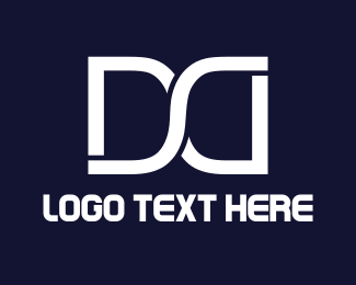 Racing - White D & D logo design