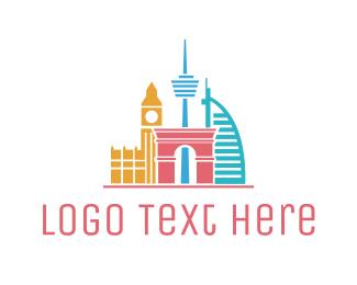 National - Travel Landmarks logo design