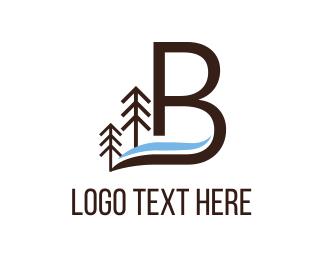 Riverside - Letter B logo design