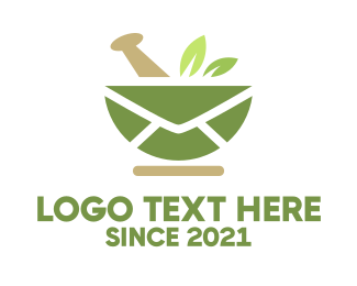 Apothecary - Mail Leaves logo design