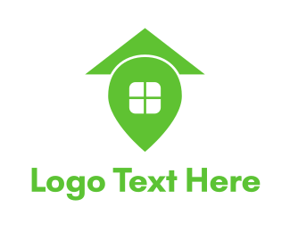 Roofing - Green Home Place logo design