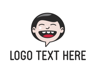 Messaging - Laugh Chat logo design