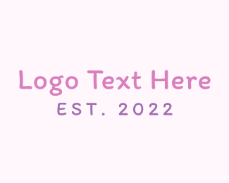 Doll - Girl Handwriting logo design
