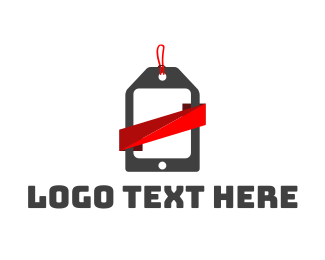 Wix - Mobile Tag logo design