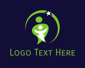 Babysitter - Star Mom logo design