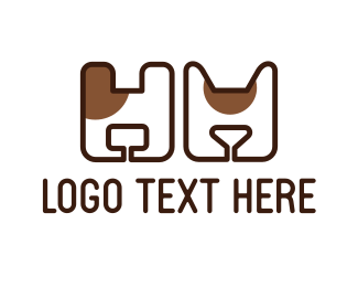 Cat And Dog - Minimalist Cat & Dog logo design