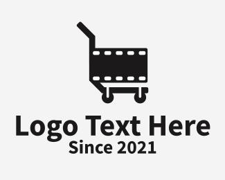 Vlog - Film Cart logo design