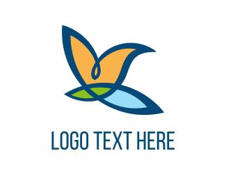 Beauty Salon - Bird Flower logo design