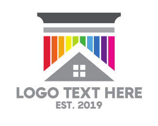 Paint - Colorful Pillar House logo design