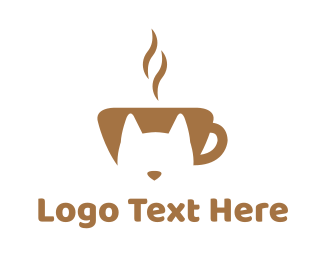 Barista - Cat Cafe logo design