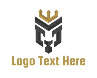 Royalty - Lion Letter M logo design