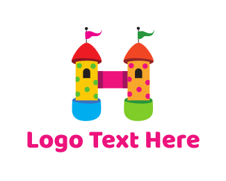 Amusement Park - Bouncy Castle logo design