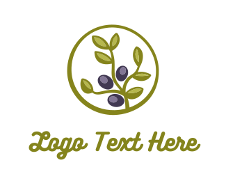 Oil - Olive Plant logo design