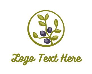 Oil - Olive Plant logo design