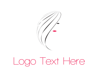 Haircut - Pretty Girl logo design