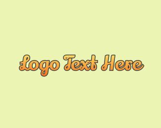 Gradient - Script Gradient Orange logo design