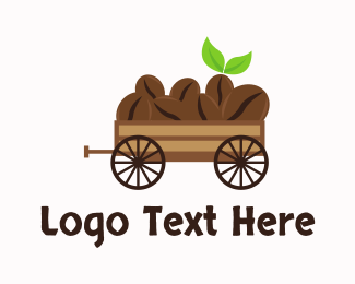Coffee - Organic Coffee Wagon logo design