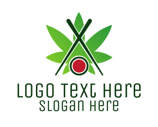 Sashimi - Sushi Cannabis logo design