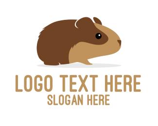 Pig - Brown Guinea Pig logo design
