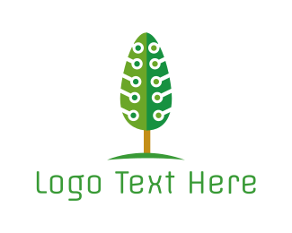 Pine - Tech Pine Tree logo design