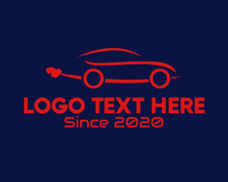 Blue And White - Blue Car logo design
