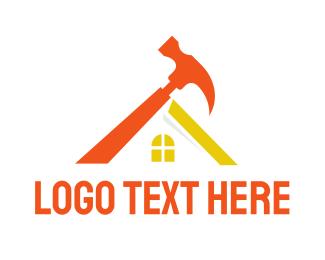 Joinery - Orange Hammer House logo design
