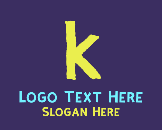 Crayon - Toddler Letter K logo design