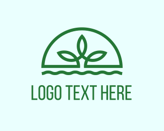 Herbal - Water Plant logo design