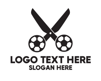 Tailor - Soccer Scissors  logo design