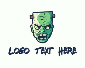 Mascot - Wicked Frankenstein Zombie logo design