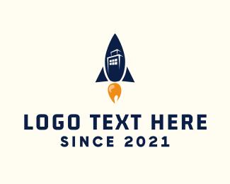 Launch - Rocket City logo design