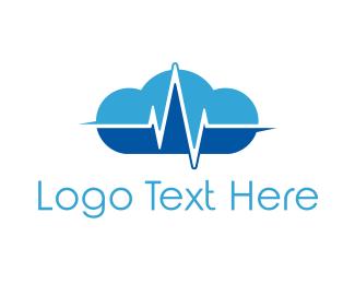 Cloud - Pulse Cloud logo design