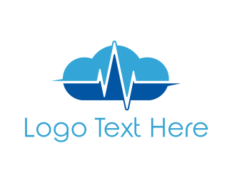 Heartbeat - Pulse Cloud logo design