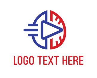 Youtube - Brain & Play logo design