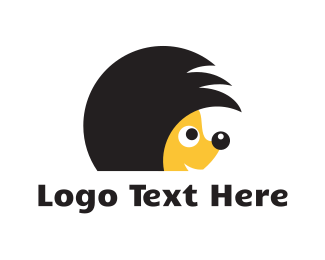 Hairstyle - Hedgehog Hairstyle logo design