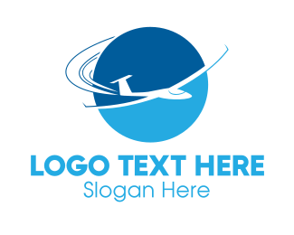 Aero - Blue Jet logo design