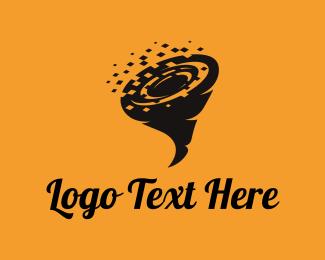 Storm - Data Tornado logo design