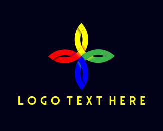Religion - Colorful Flower Cross logo design
