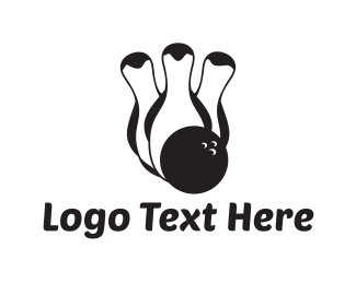 Ball - Bowling Penguins logo design
