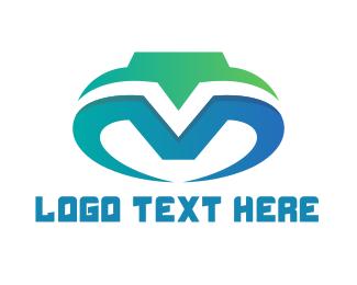 Esports - Blue V & M logo design