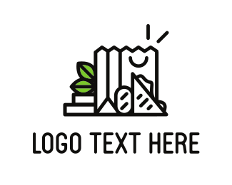 Grocery Store - Black Grocery logo design
