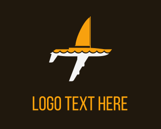 Tourism - White & Yellow  Sailing Plane logo design