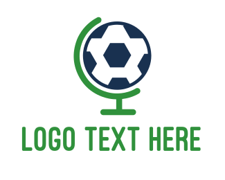 World - Soccer Globe logo design